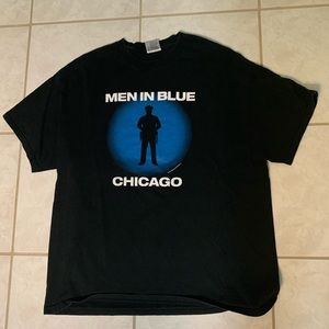 Vintage 1997 Men in Blue Chicago Tee Men's (XL)